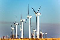 Spain. Aragon. Zaragoza. La Muela. Wind farm