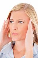 Blonde - headache - migraine
