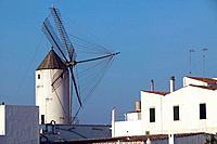 Spain. Balearics. Menorca island. Ciutadella. Mill