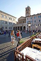 Santa Maria in Trastevere, Trastevere, Rome. Lazio, Italy