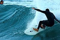 Surfer, Beach of Silveira, Garopaba, Santa Catarina, Brazil