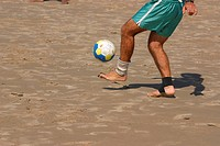 Feet, Ball, Beach, Imbituba, Santa Catarina, Brazil