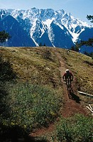 Mountain Biking near Pemberton, B.C.