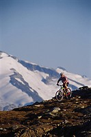 Mountain biking, Whistler Mountain, BC, Canada