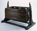 Child's cradle, end of the 15th century. Oak cradle made for a baby of high birth (thumbnail)