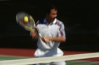 blur tennis player