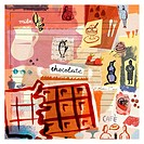 Collage of chocolate, milk, and desserts (thumbnail)
