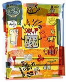 Collage illustrating the preparation of soup