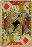 Jack of Diamonds vintage playing card
