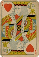 King of Hearts vintage playing card (thumbnail)