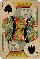 King of Spades vintage playing card (thumbnail)