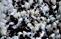 Israel Jerusalem Old City The Priestly Blessing ceremony by the Western Wall on Succot holiday
