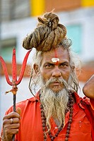 Sadhu (Hindu Holy Man), Varanasi, Uttar Pradesh, India