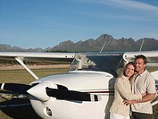 Couple by private aeroplane