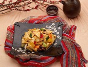 sweet_and_sour pork, dish, dishes, dish, dishes, Chinese, Food styling