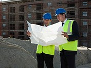 Architects on building site