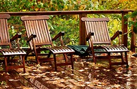 Deck Chairs in a row
