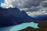 Mount Patterson and Peyto lake in Mistaya Valley