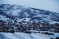 Snow covered landscape, Park City, Utah