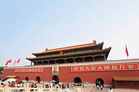 Facade of a building, Tiananmen Gate Of Heavenly Peace, Tiananmen Square, Beijing, China