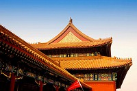 Low angle view of a building, Forbidden City, Beijing, China
