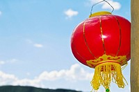 Close_up of a Chinese lantern, HohHot, Inner Mongolia, China