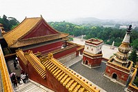 High angle view of tourists in a palace, Four Great Regions, Summer Palace, Beijing, China