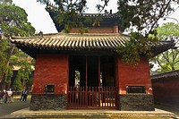 Facade of a pagoda, Thirteen Tablet Pavilions, Temple of Confucius, Qufu, Shandong Province, China