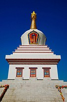 Low angle view of a pagoda, Bai Ta, Hohhot, Inner Mongolia, China