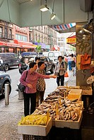 Women Shopping at Fish Market, Chinatown, Manhattan, New York City, New York, USA