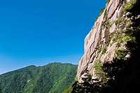 Low angle view of a mountain range, Huangshan, Anhui province, China (thumbnail)