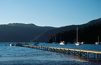 New Zealand _ South Island _ Marlborough Sounds _ Queen Charlotte Sound _ Okiwa Bay _ Momorangi