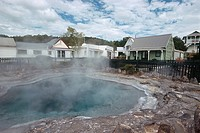New Zealand _ North Island _ Bay of Plenty _ Rotorua _ Whakarewarewa Thermal village