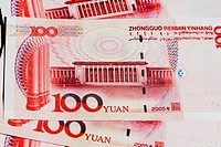 Close_up of one hundred Yuan notes