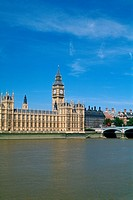 England _ London _ Westminster district _ River Thames _ Big Ben and the Houses of Parliament