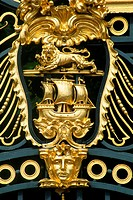 England _ London _ St James's district _ close_up on Buckingham Palace's gate
