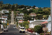 New Zealand _ South Island _ Otago _ Dunedin _ Baldwin Street _ the steepest street in the world