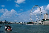 England - London - South Bank district - London Eye (thumbnail)