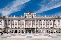 Spain _ Madrid _ the Palacio Real _ Royal Palace _ view from The Plaza de la ArmerÝa