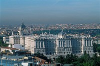Spain _ Madrid _ view on the Palacio Real