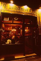 Spain _ Madrid _ old Tapas bar at night