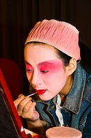 China _ Beijing PÚkin _ Liyan Theatre _ PÚkin Opera _ Artist's makeup session