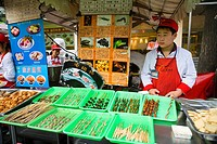 China _ Beijing PÚkin _ Centre _ Wangfujing Street _ Donghuamen night market _ Street restaurants _ Insects