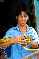 Vietnam _ The South _ The Delta of Mekong _ Can Tho Region _ Snake market of Phung Hiep