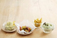 Four different potato side dishes