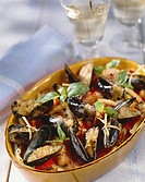 Stuffed mussels with macaroni