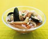 Cacciucco alla livornese fish stew, Tuscany, Italy