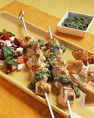 Chicken Skewers with Pesto
