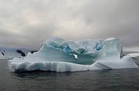 Antarctica, Antarctic Peninsula, Lemaire Channel, Iceberg near Pleneau Island.