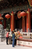 Wong Tai Sin Temple, Wong Tai Sin district, Kowloon, Hong Kong, China.